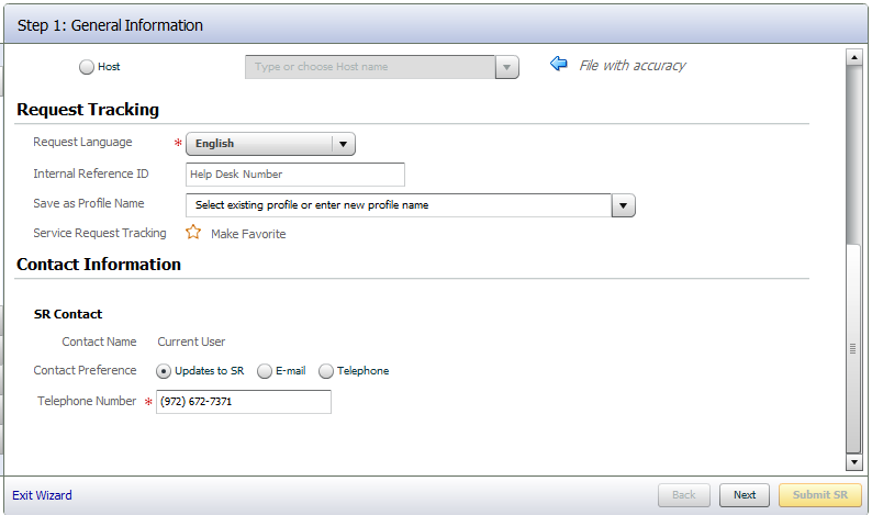 Creating an SR on Oracle Support