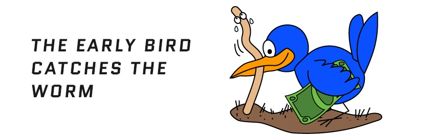 "Image result for ""the early bird gets the worm"" images"